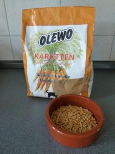 Nicht sexy, aber hilfreich: Olewo Karottenpellets